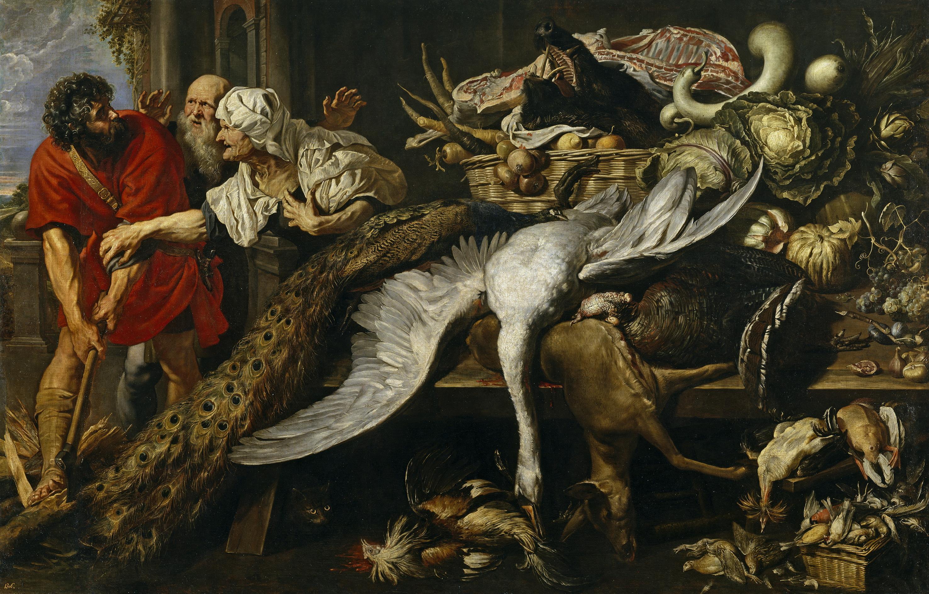 Jan Wildens, Peter Paul Rubens y Frans Snyders.